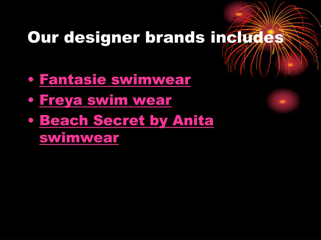 Our designer brands includes