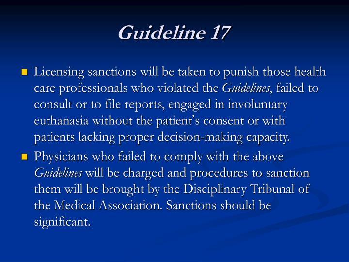 Guideline 17