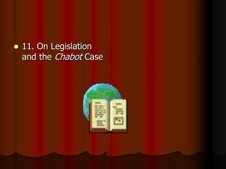 11. On Legislation and the