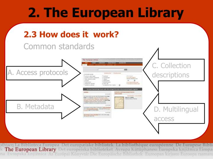 2. The European Library