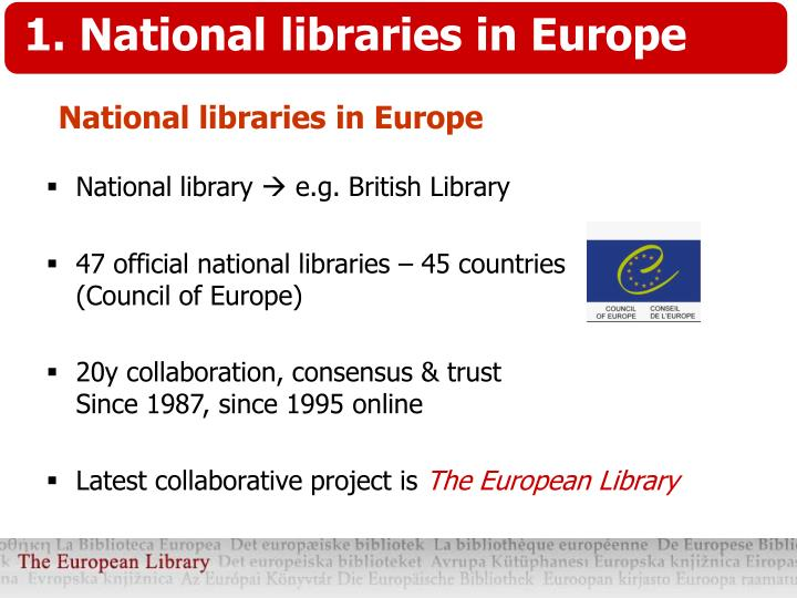 1. National libraries in Europe