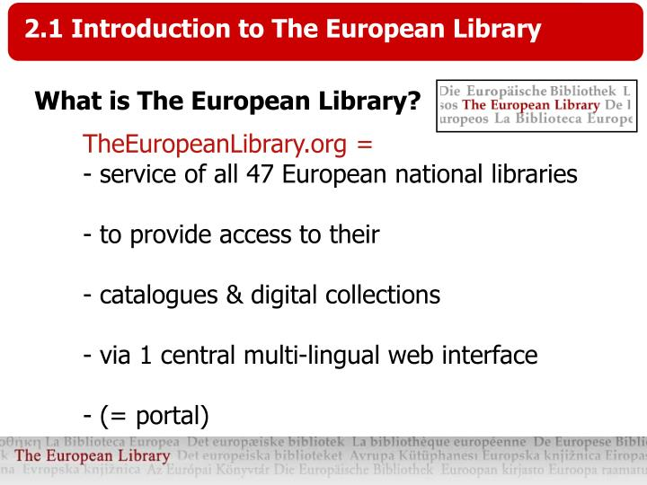 TheEuropeanLibrary.org =
