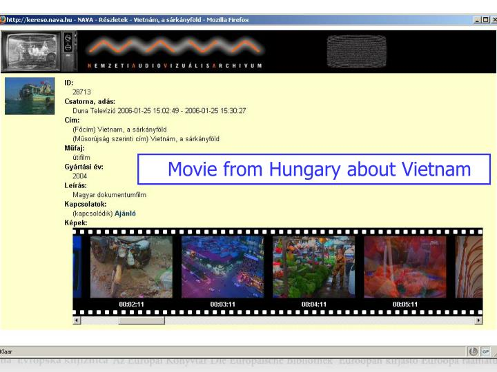 Movie from Hungary about Vietnam