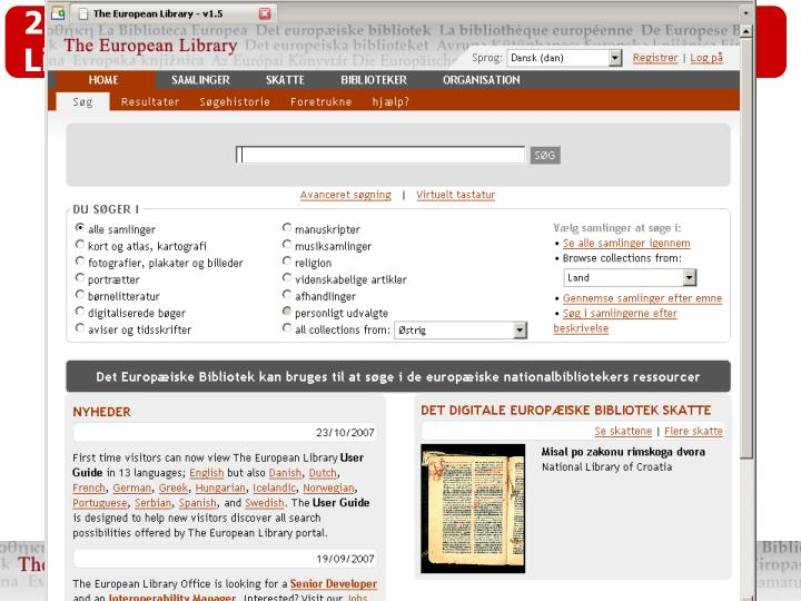 2.2.D  Multi-lingual access in The European Library