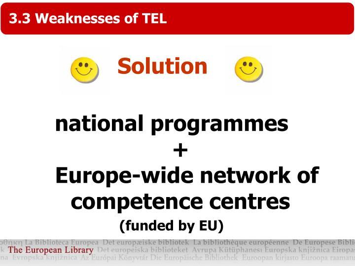 3.3 Weaknesses of TEL