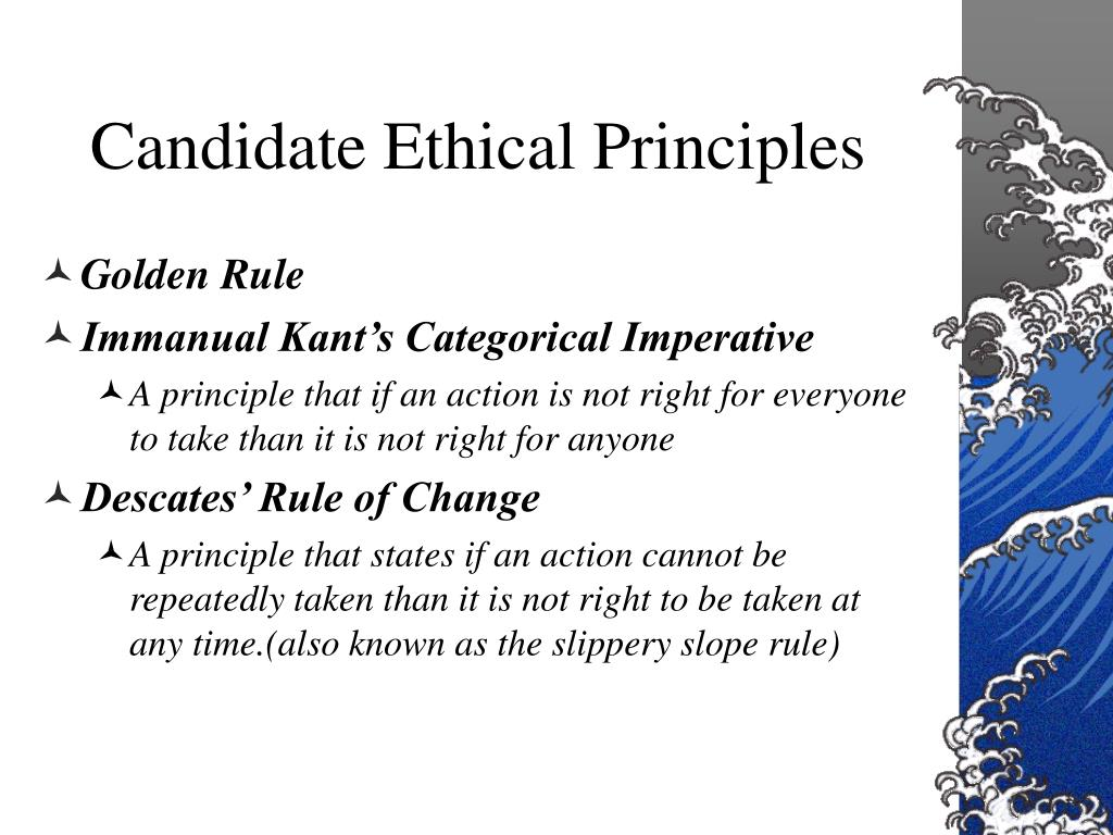 Candidate Ethical Principles