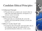 candidate ethical principles9