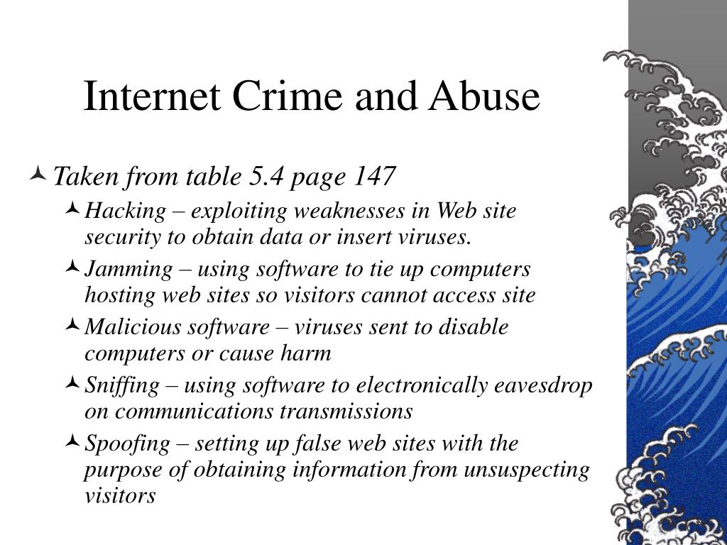 Internet Crime and Abuse