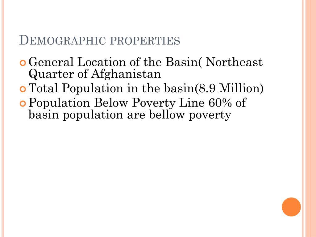 Demographic properties