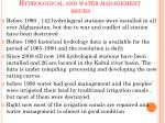 hydrological and water management issues