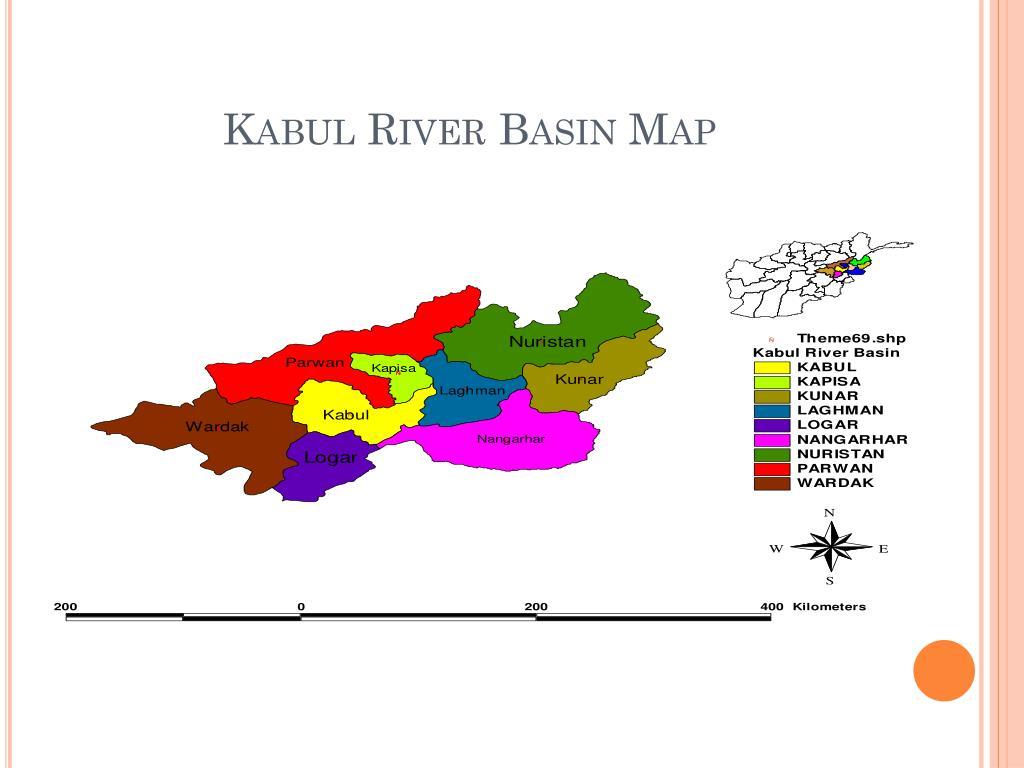 Kabul River Basin Map