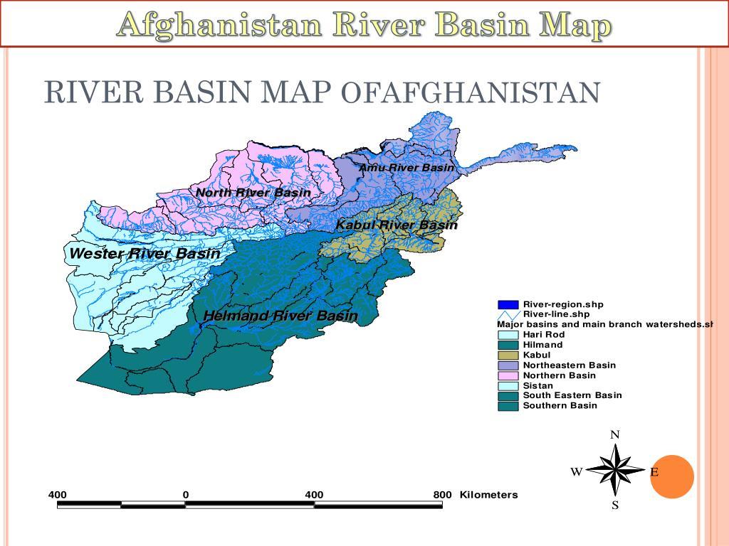 Afghanistan River Basin Map