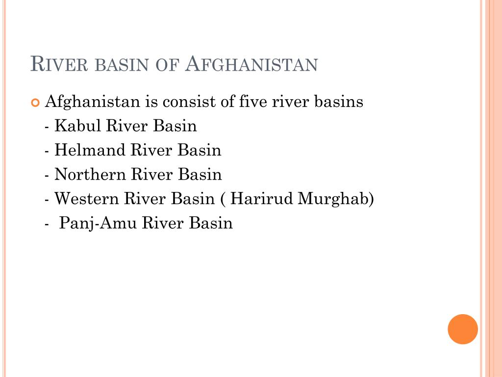 River basin of Afghanistan
