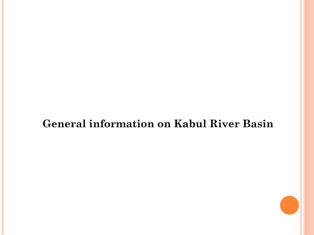 General information on Kabul River Basin
