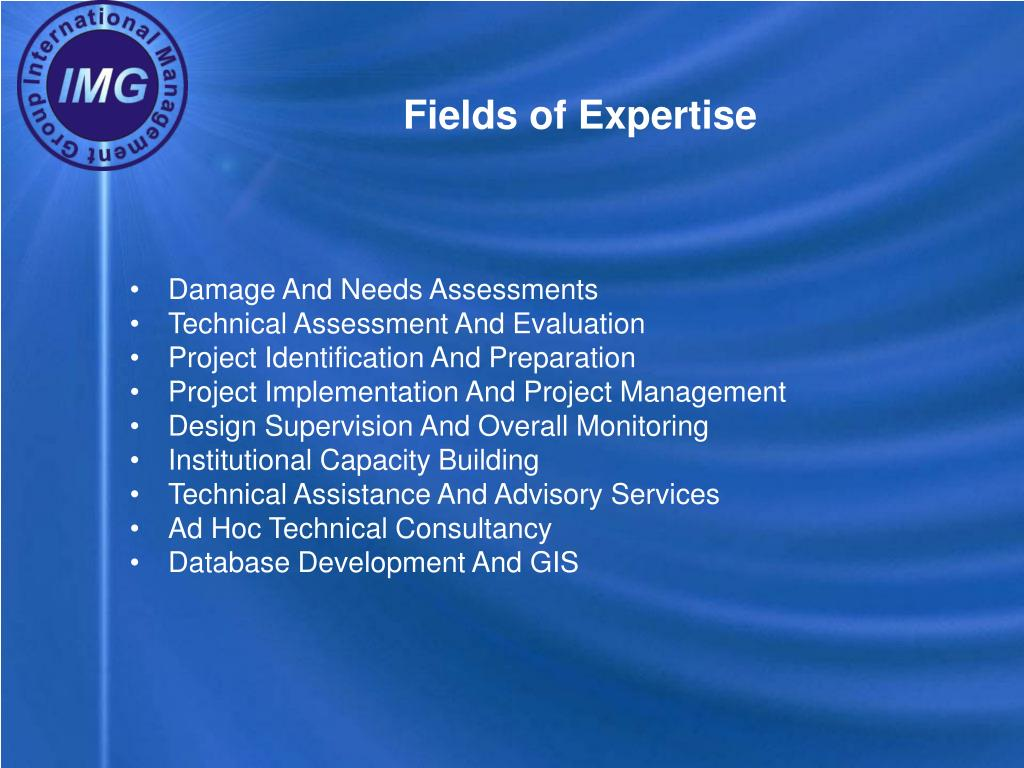 Fields of Expertise