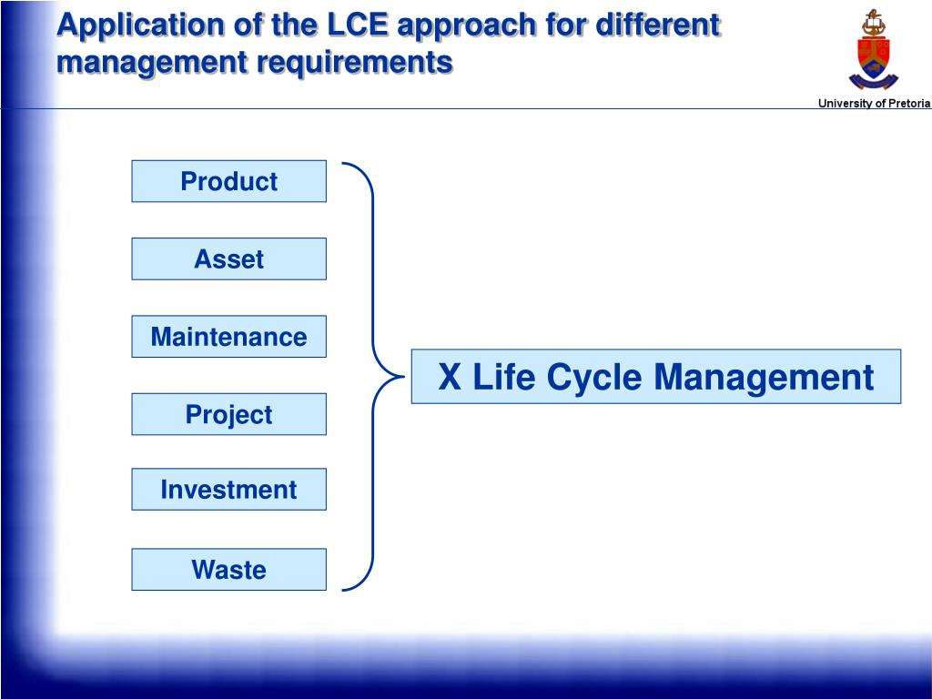 Application of the LCE approach for different management requirements