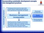 incorporating sustainable development concepts into management practices31