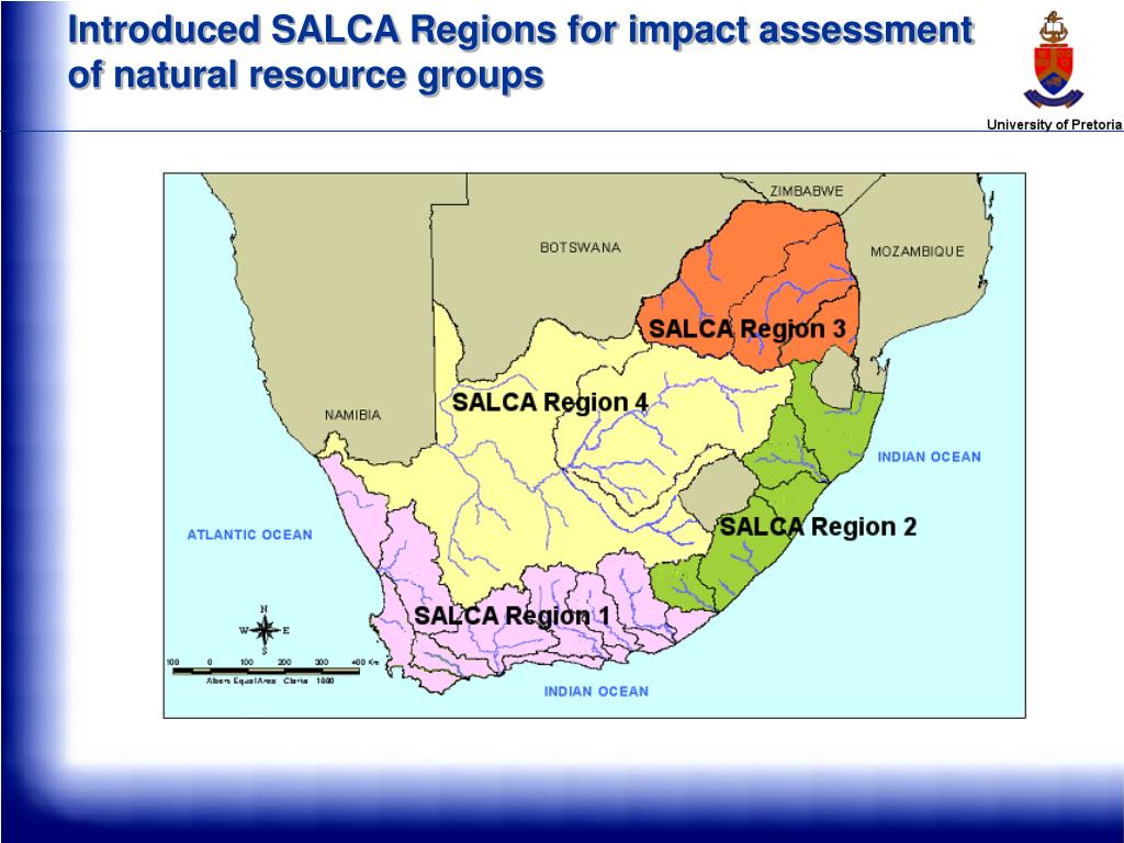 Introduced SALCA Regions for impact assessment of natural resource groups