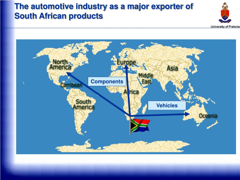 The automotive industry as a major exporter of South African products