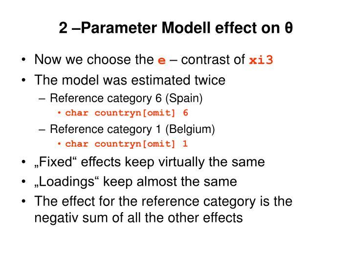 2 –Parameter Modell