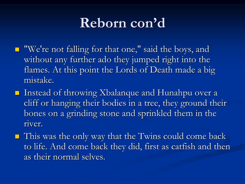 Reborn con'd