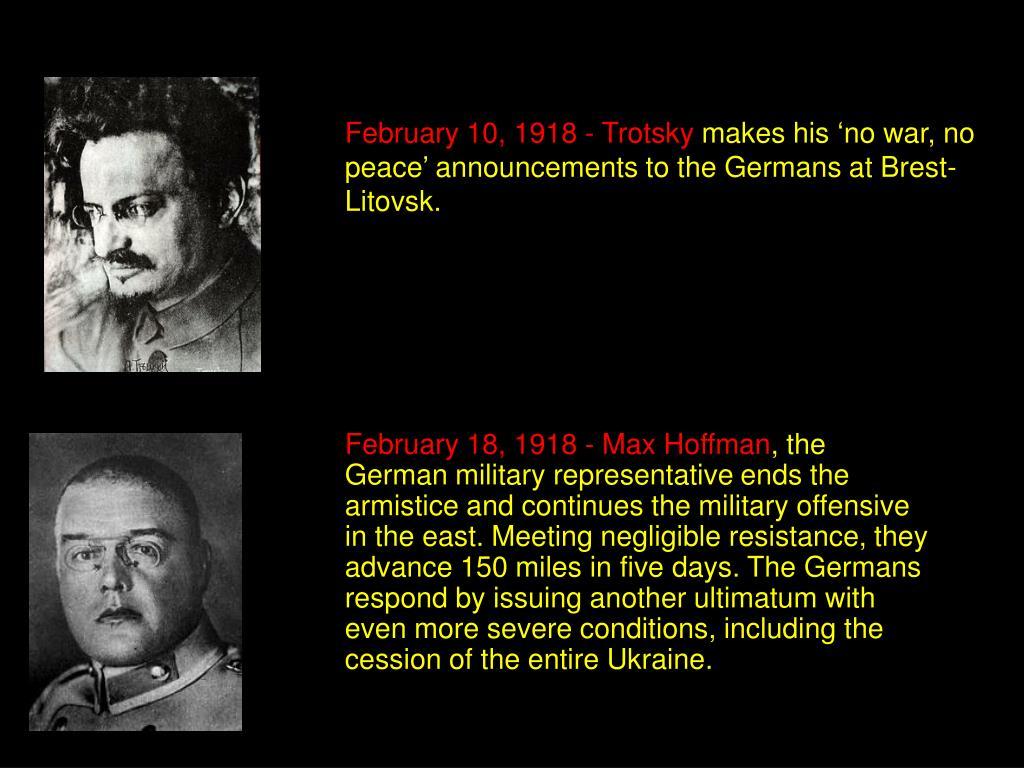 February 10, 1918 - Trotsky