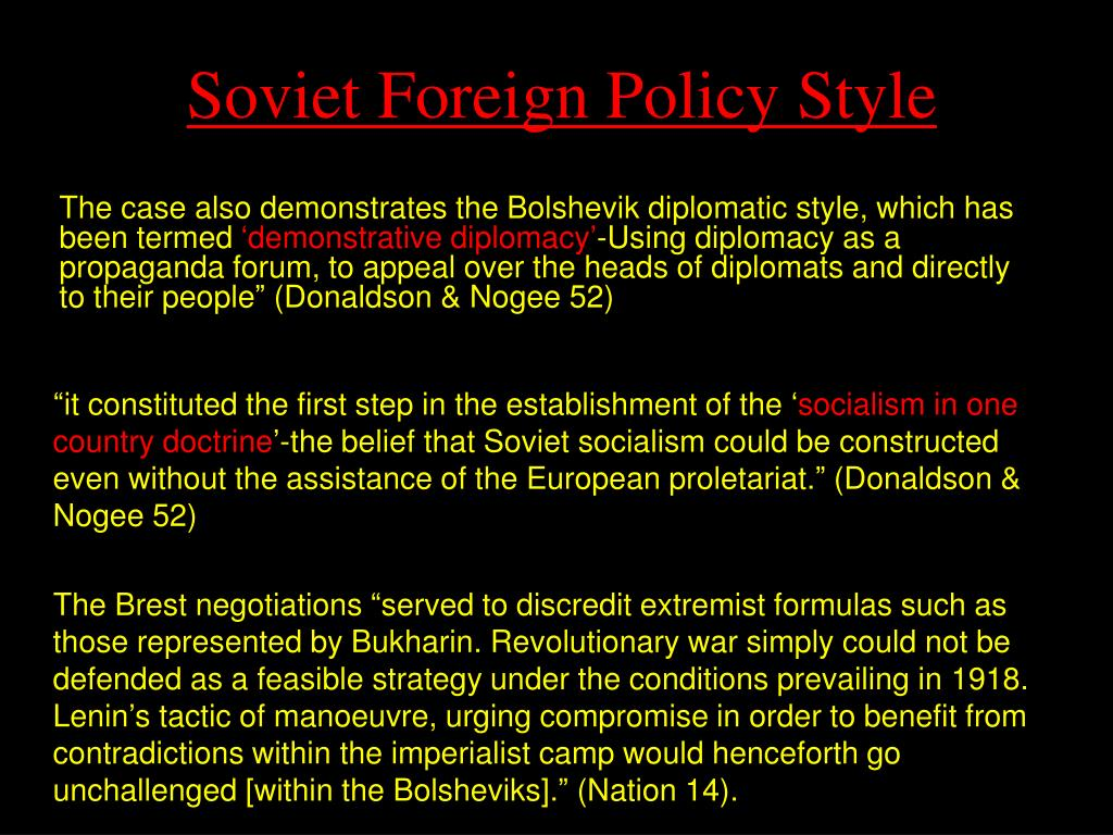 Soviet Foreign Policy Style