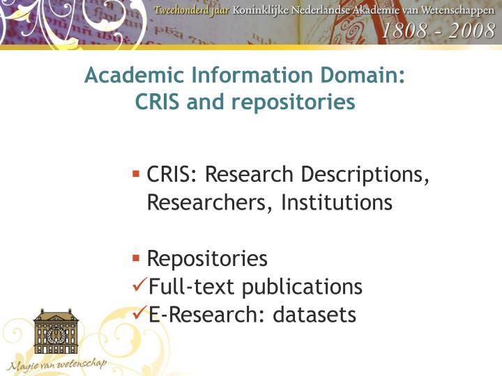 Academic Information Domain: