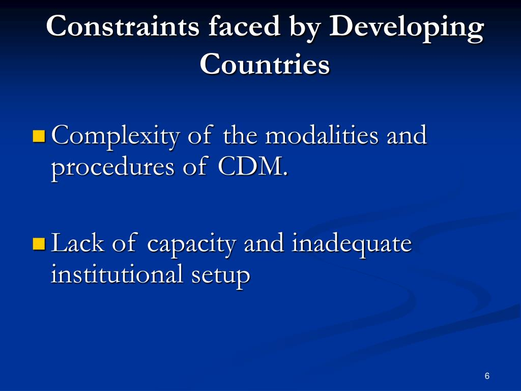 Constraints faced by Developing Countries