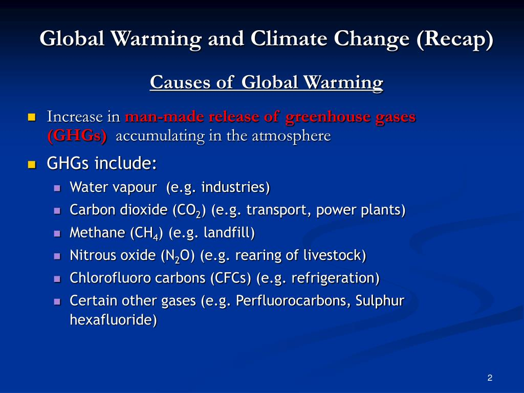 Global Warming and Climate Change (Recap)