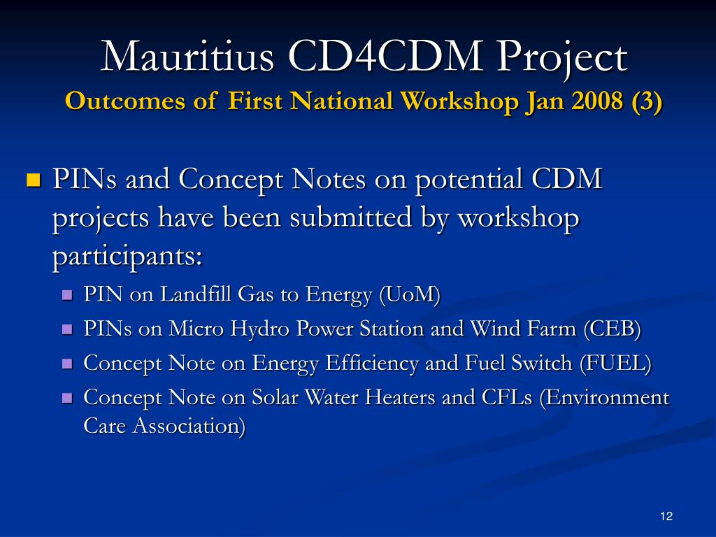 Mauritius CD4CDM Project