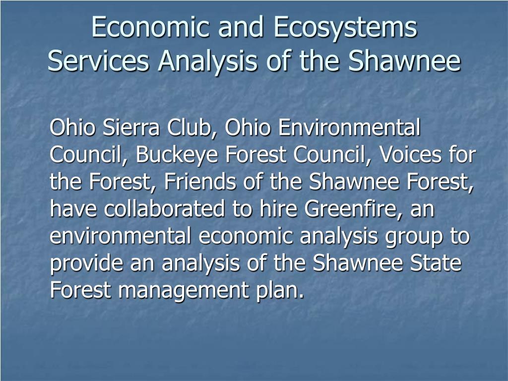 Economic and Ecosystems
