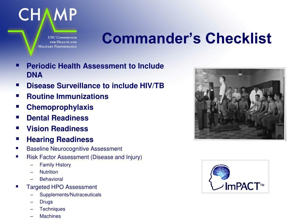 Commander's Checklist