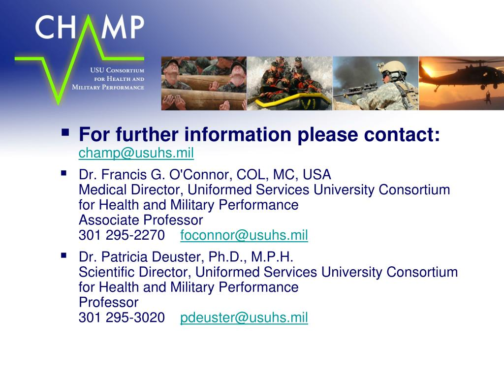 For further information please contact: