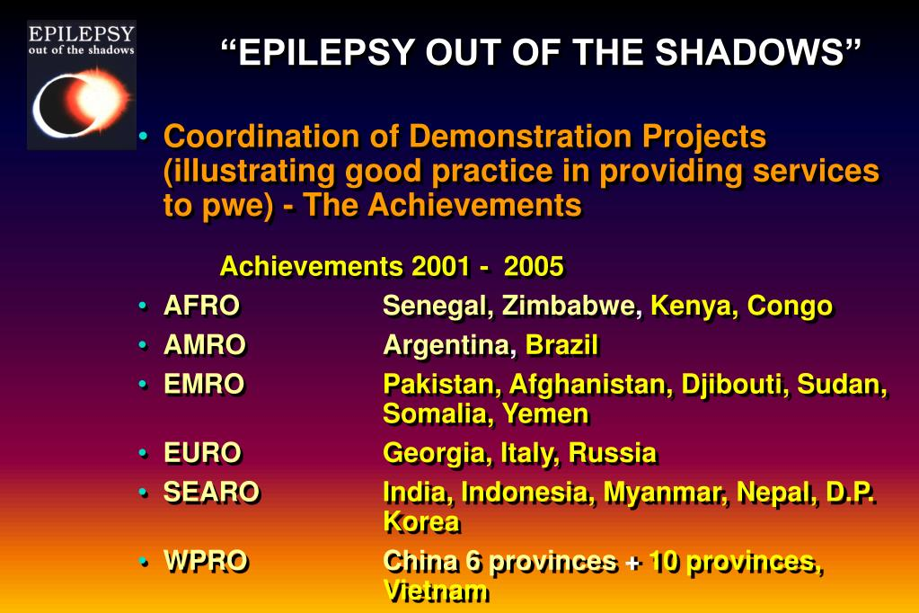 """""""EPILEPSY OUT OF THE SHADOWS"""""""