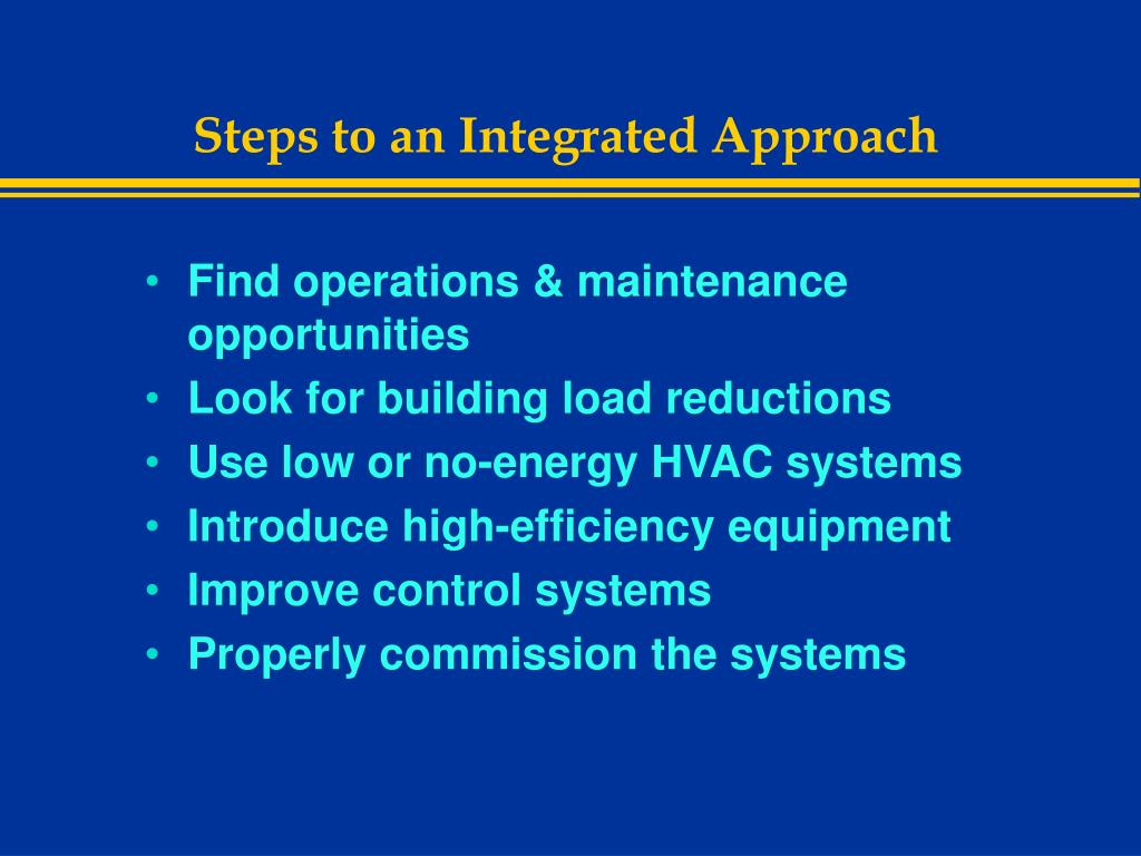 Steps to an Integrated Approach