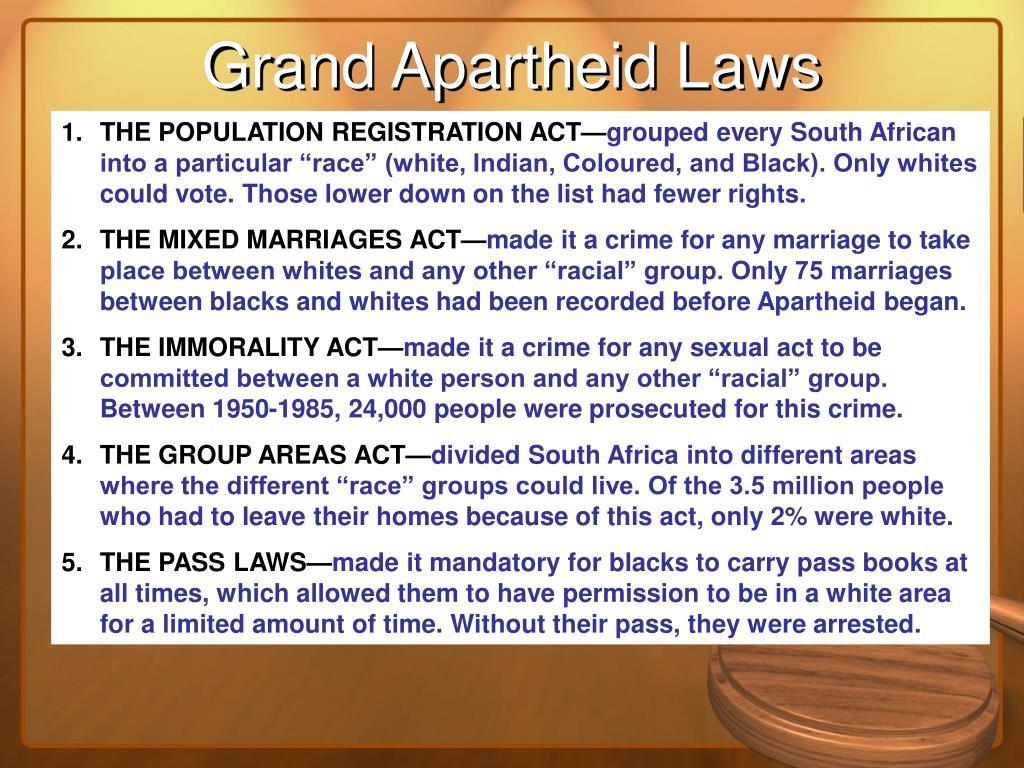 Grand Apartheid Laws