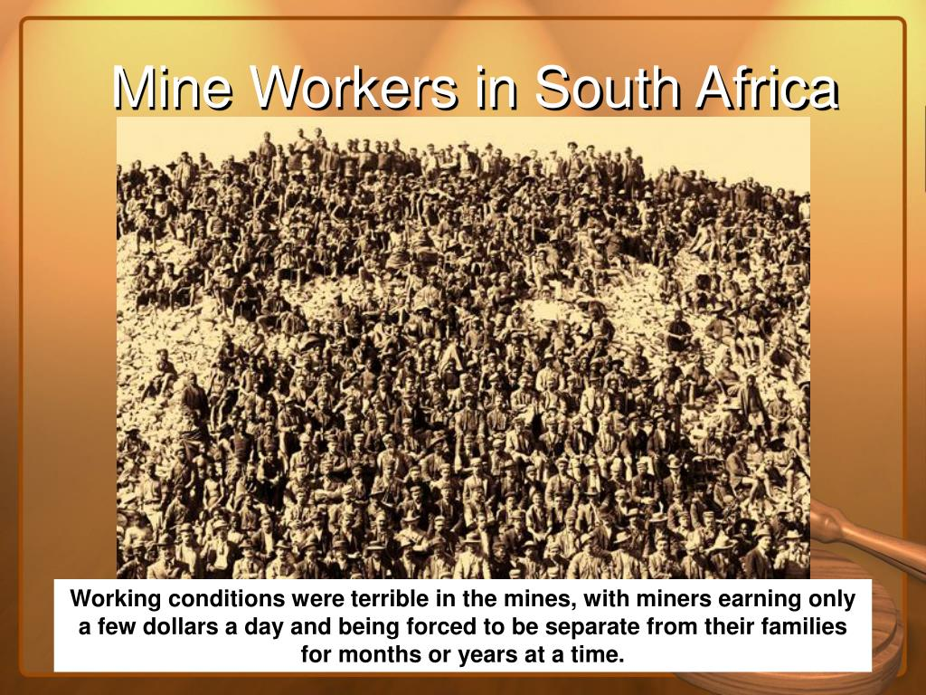 Mine Workers in South Africa