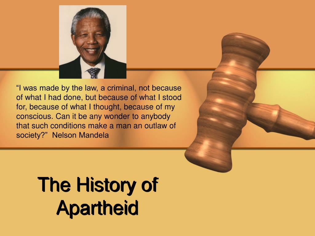 The History of Apartheid