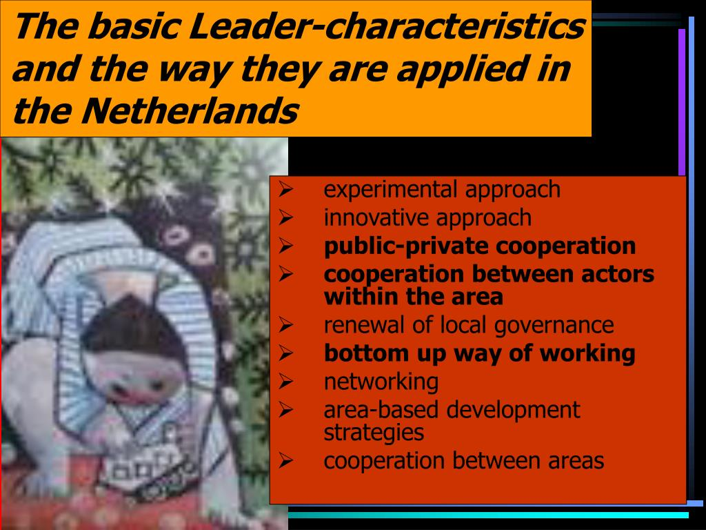 The basic Leader-characteristics and the way they are applied in the Netherlands