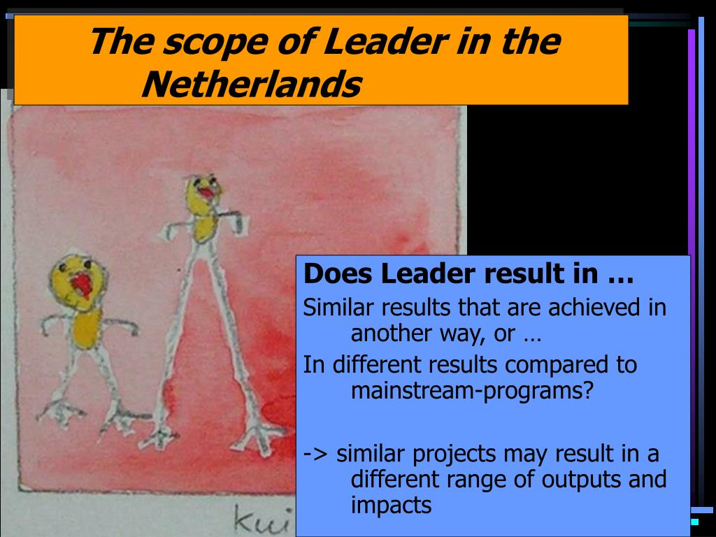 The scope of Leader in the Netherlands