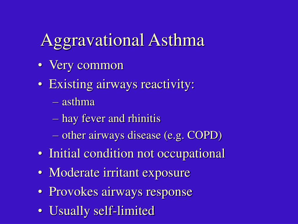 Aggravational Asthma