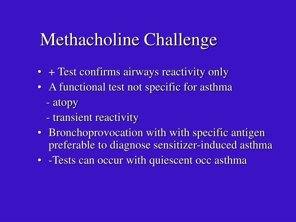 Methacholine Challenge