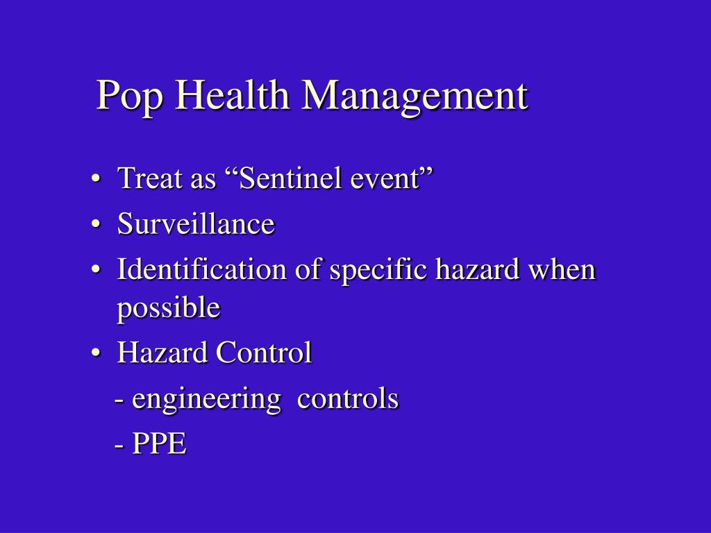 Pop Health Management