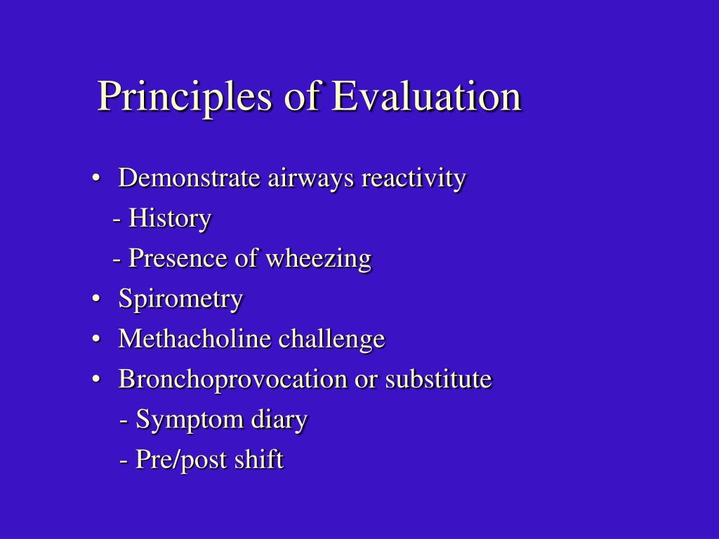 Principles of Evaluation