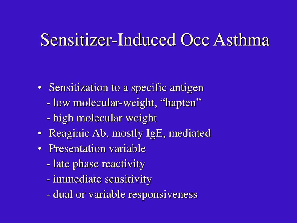 Sensitizer-Induced Occ Asthma