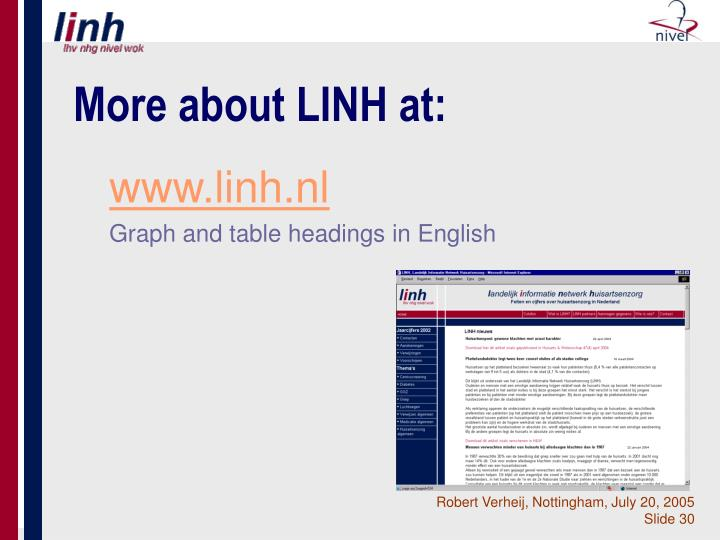 More about LINH at:
