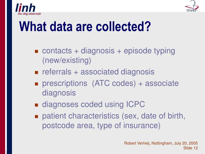 What data are collected?