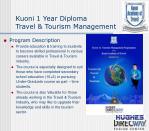 kuoni 1 year diploma travel tourism management