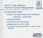 kuoni 1 year diploma travel tourism management25